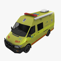 3d model mercedes sprinter fighting