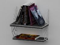 3d max book shelve