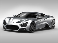 zenvo car 3ds