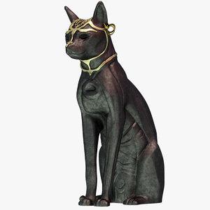 3d cat statue