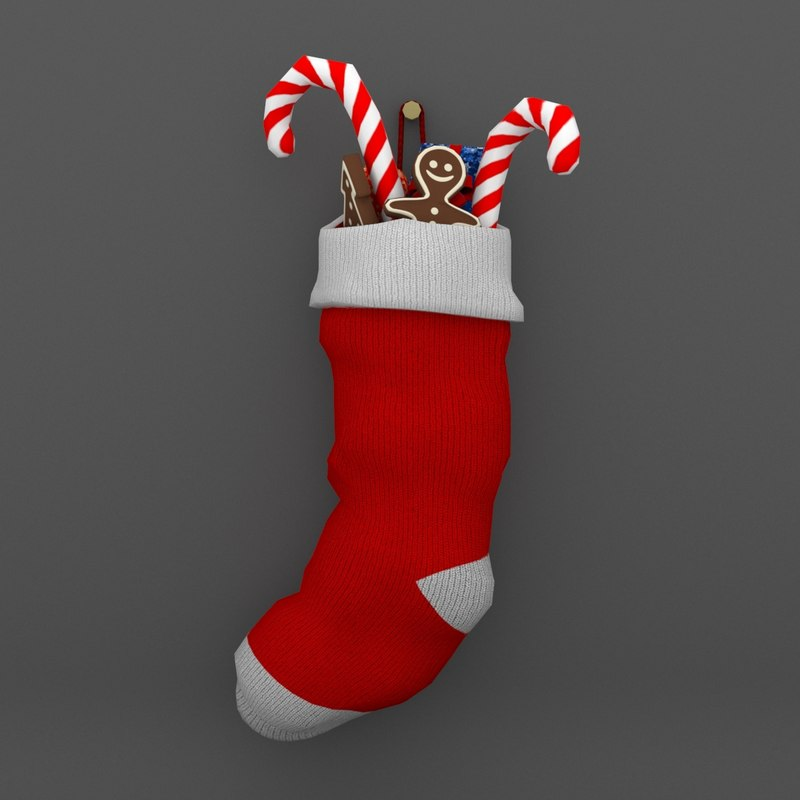 christmas sock obj