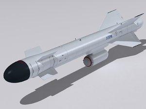 3d kh-59 missile kh-59mk model