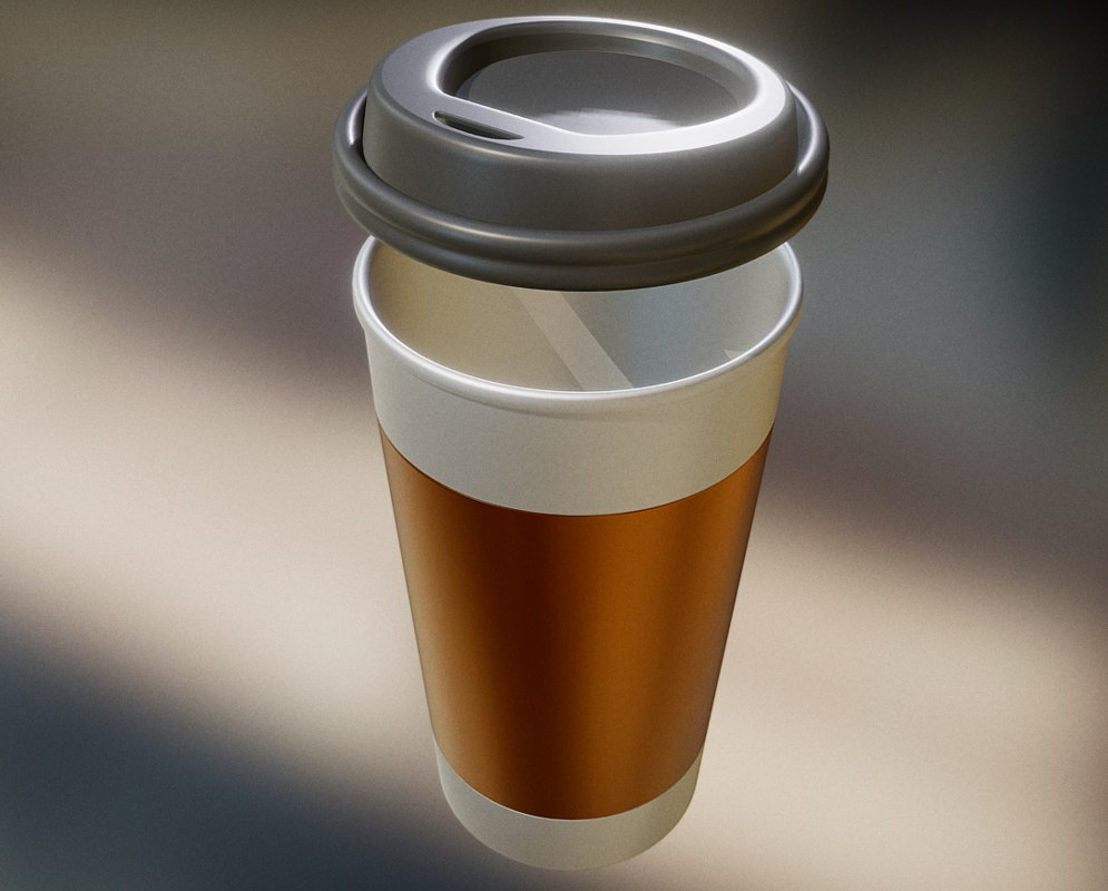 3d model coffee cup