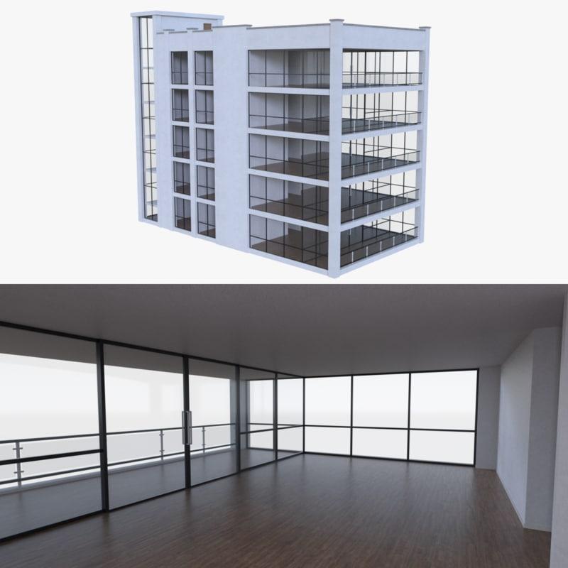 fbx apartment interior buildings