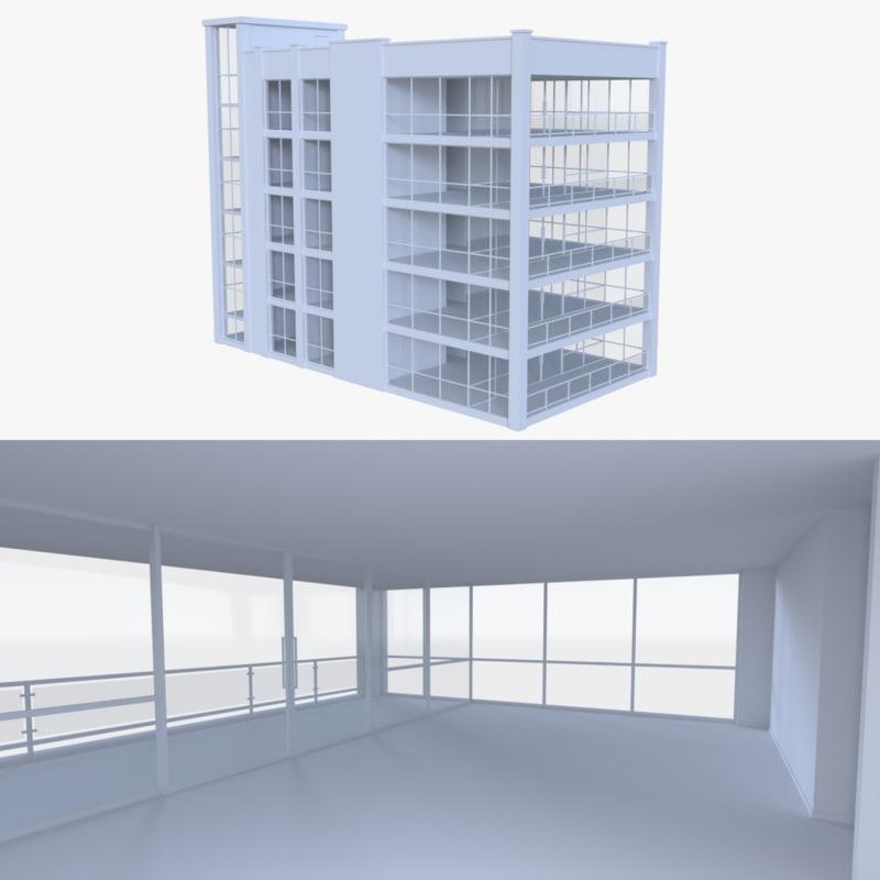 apartment interior buildings 3d obj