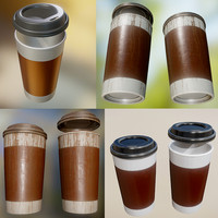 coffee cup pack 3d 3ds