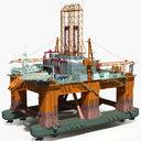 Oil Rig  Semi-Submersible