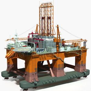 oil rig semi-submersible lwo