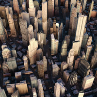cityscape city streets 3d model