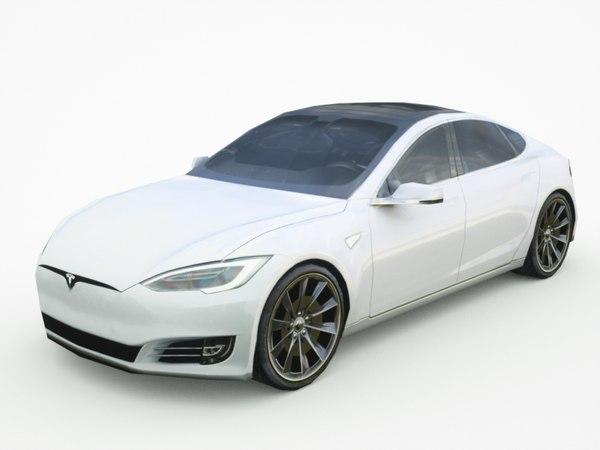 2017 tesla s 3d model