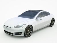2017 Tesla Model S lowpoly