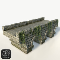Stone bridge large low poly