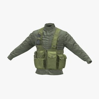 military jacket 3d max