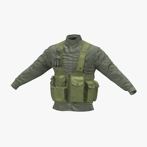 military jacket 3d max