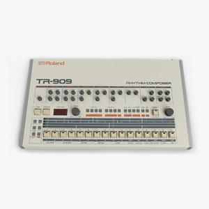 3d roland tr-909 model