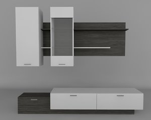 tv stand 3d c4d