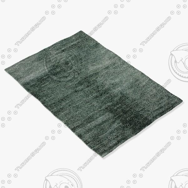 amara rug smart l-waterblue 3d model