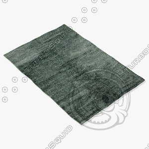 amara rug smart l-waterblue 3d model