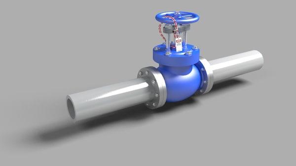 3d hand valve