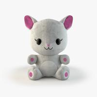 3d model kitten toy