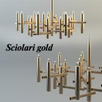 3d chandelier sciolari gold model