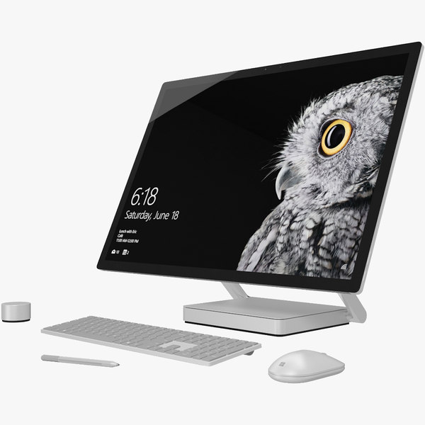 3d model realistic microsoft surface studio