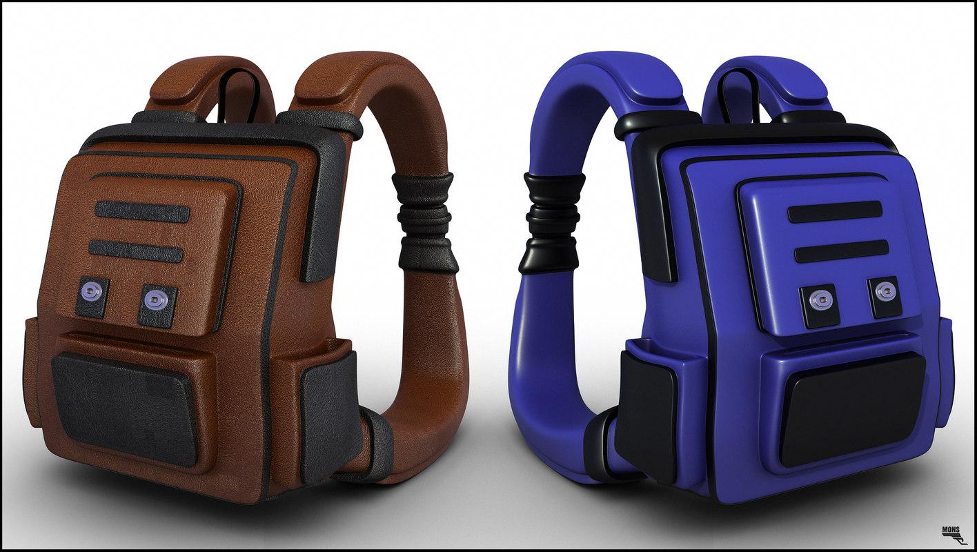 bag backpack knapsack 3d model
