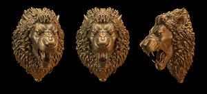 lion head obj