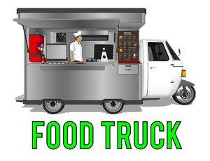 food truck car 3d model