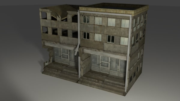 free house building normal 3d model