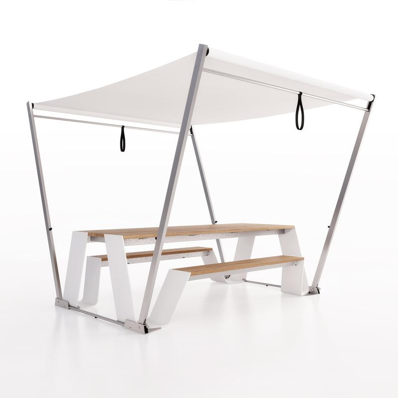 3d extremis hopper garden table