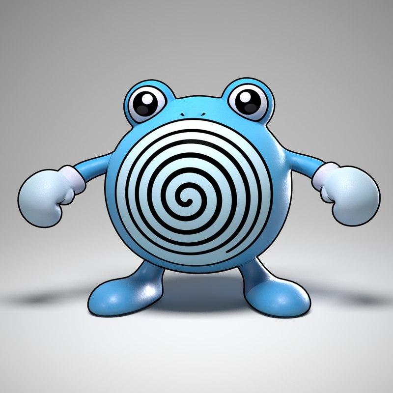 3d poliwhirl pokemon model