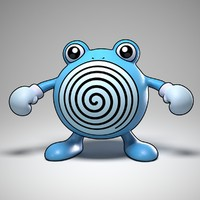 3d poliwhirl pokemon model