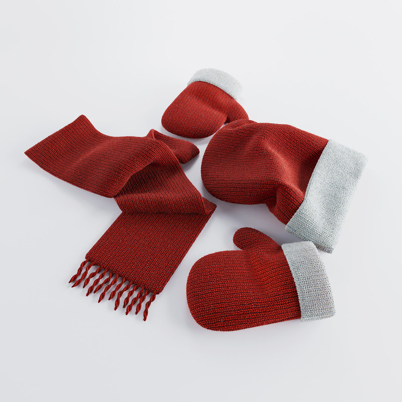 winter accessories red max