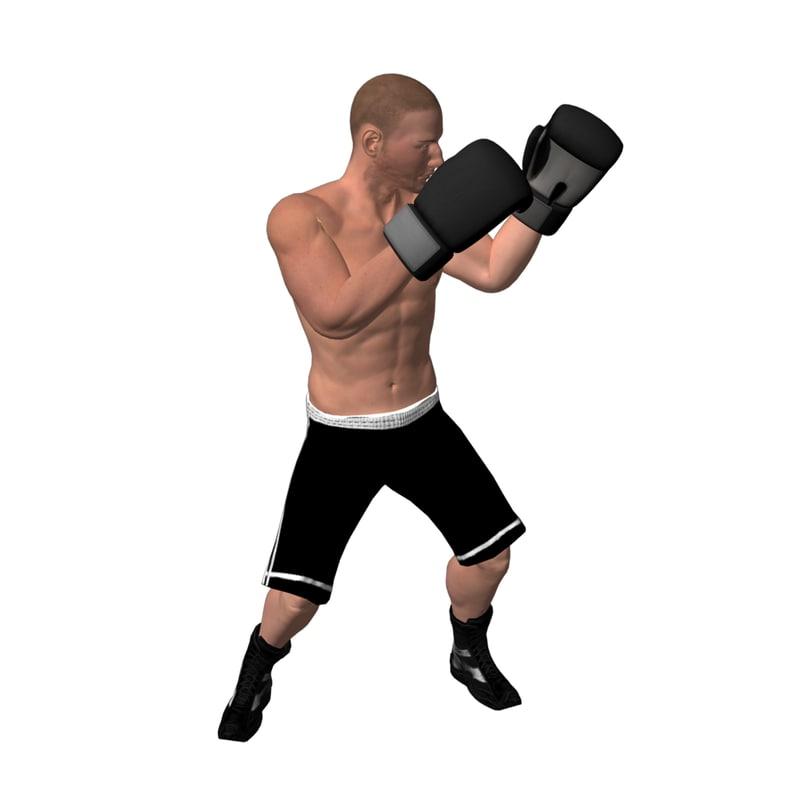 boxer rigged 3d fbx