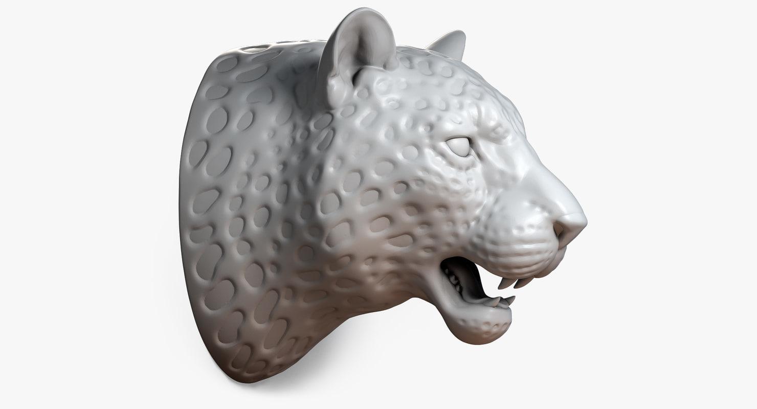 max leopard head sculpture