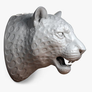 max leopard head sculpture