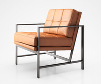 Metal Frame Tufted Leather Chair by West Elm