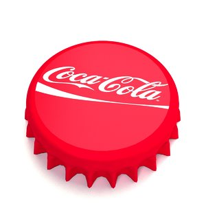 3d bottle tin cap model