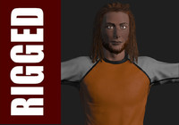 Realistic Male with Dread Locks in sport  Outfit