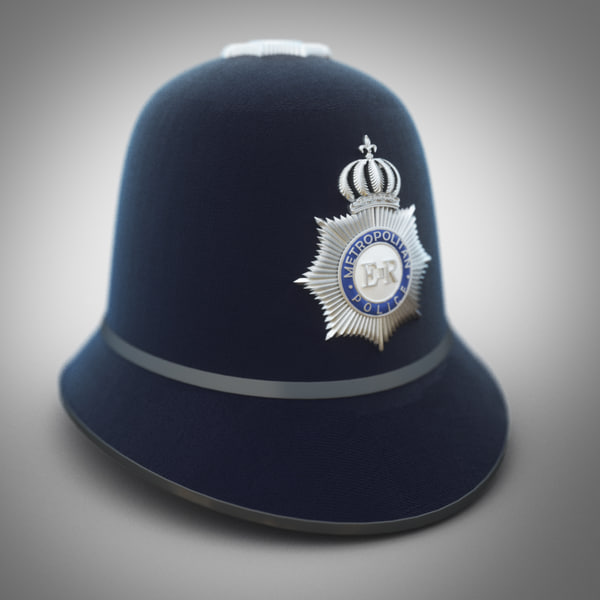 police hat 3d max