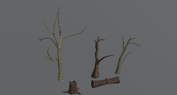 3d model trees pack