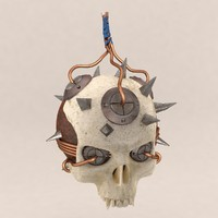 3d skull bomb