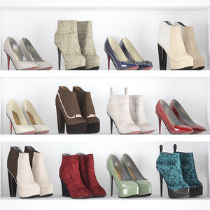 woman shoes 3d model