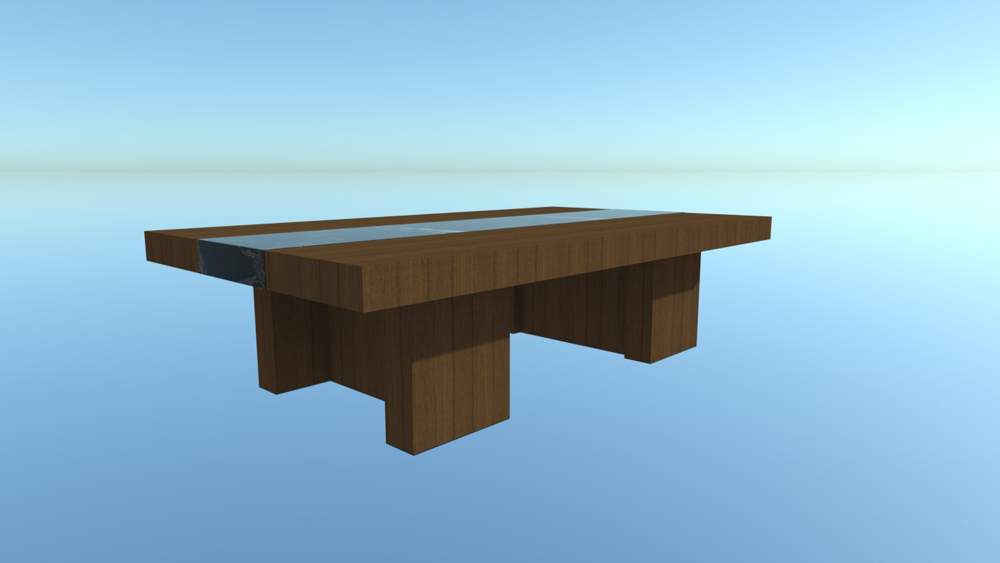 simple table marble 3d 3ds