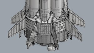 saturn 1b 3d model