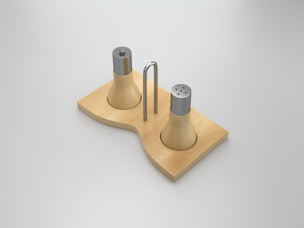 salt pepper set 3d model