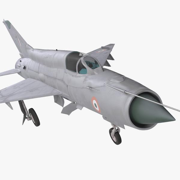 3d model mig-21 bison indian air force