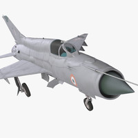 3d model mig-21 bison indian air force