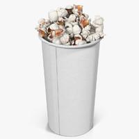 3d popcorn cup 2 model